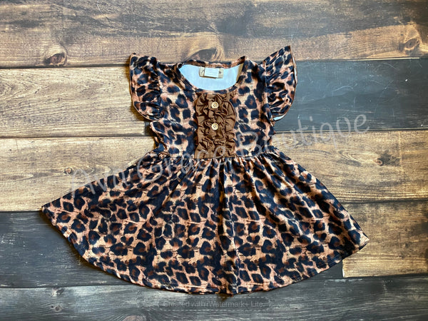 Leopard Print Twirly Dress