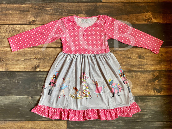 Nutcracker Pink Polka Dots Dress