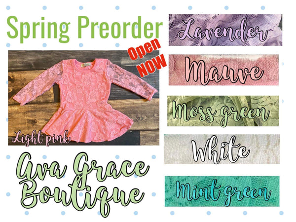 Peplum Lace Top - Preorder