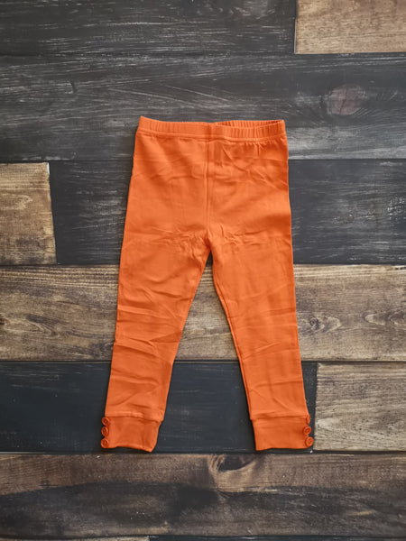 Orange Side Buttons Legging