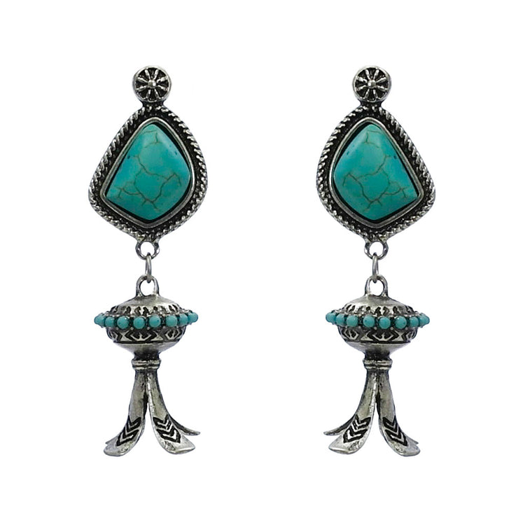 JUSTY EARRINGS-TURQUOISE
