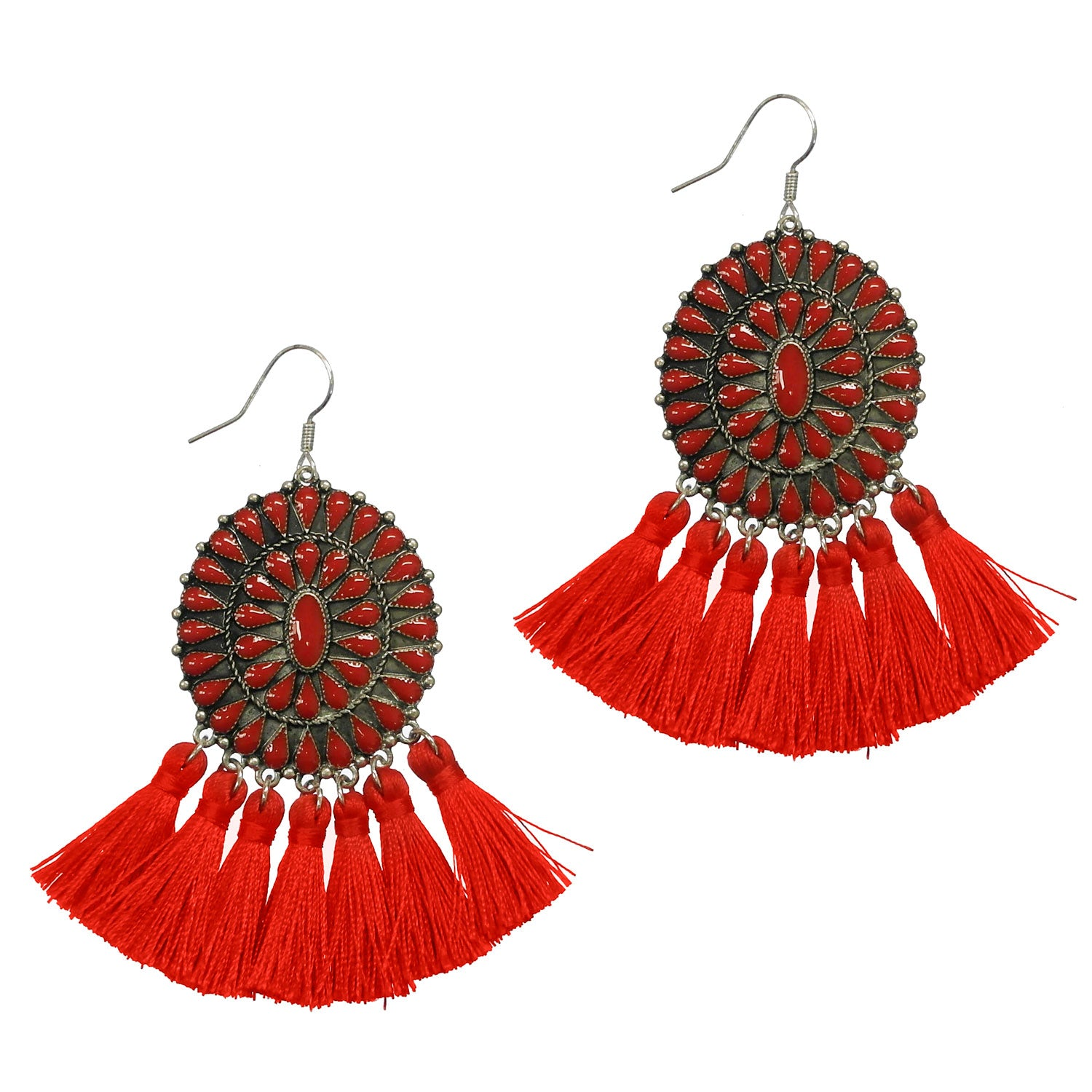 ATOKA EARRINGS - RED