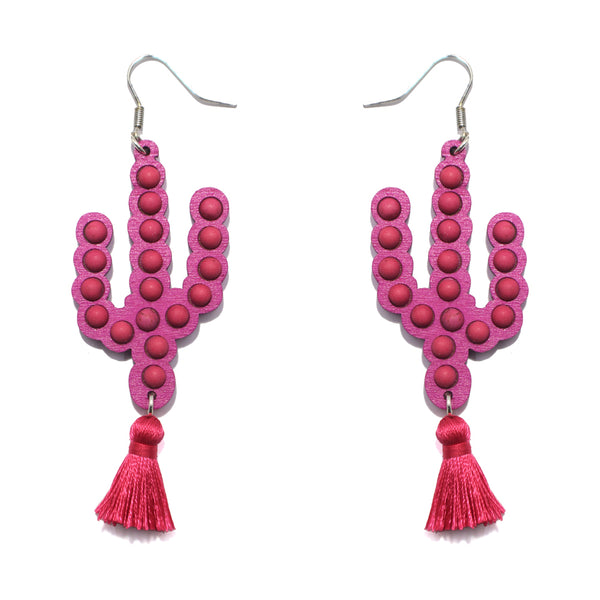 ESTILL SPRINGS EARRINGS - PINK