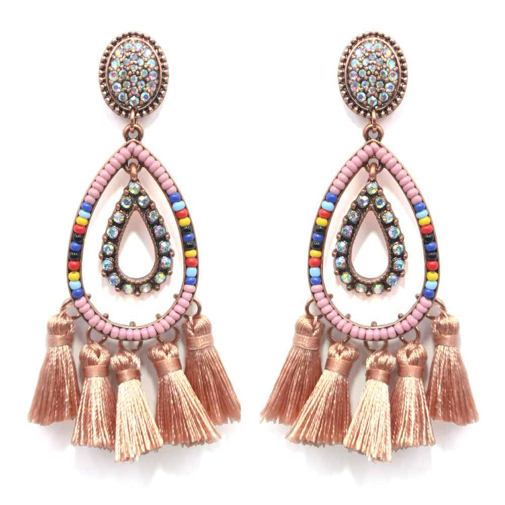 BANKS OF THE GUAD - BLUSH EARRINGS