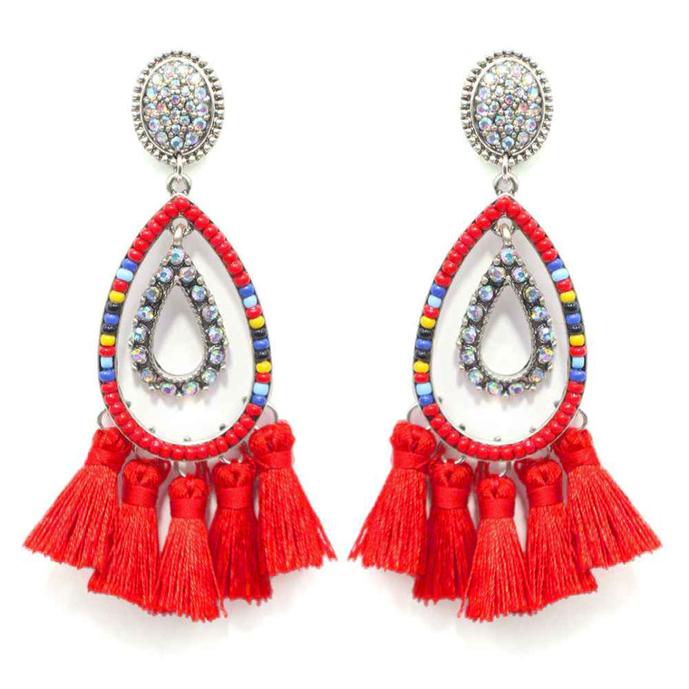 BANKS OF THE GUAD - RED EARRINGS