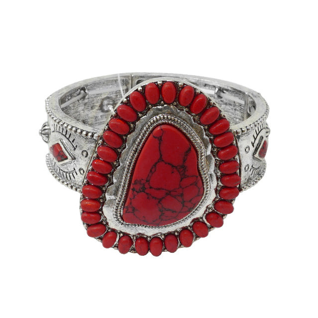 BIG ROCKS BRACELET - RED