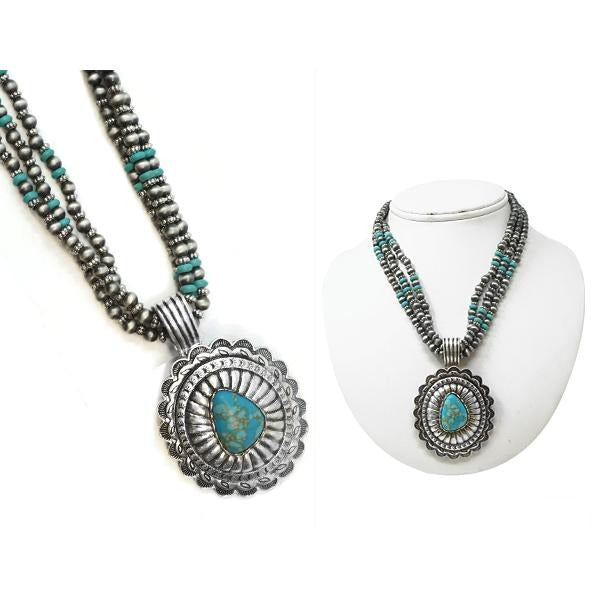 PRUITT NECKLACE - TURQUOISE