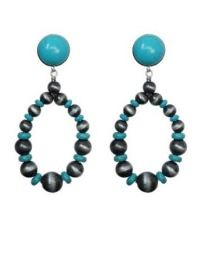 AUNT PEARL EARRINGS - TURQUOISE