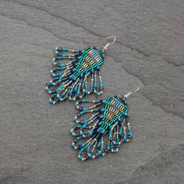 ARROW TRIBE EARRINGS - TURQ