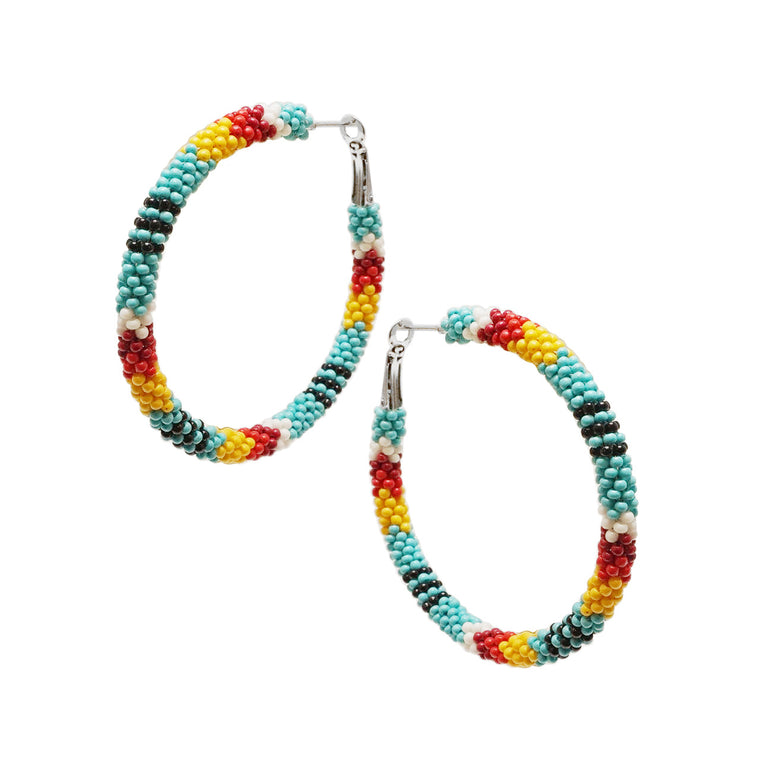 AZTECA EARRINGS - TURQ