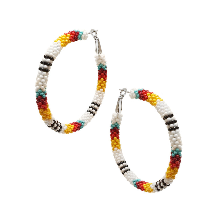 AZTECA EARRINGS - WHITE