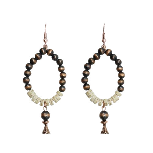 BAHA EARRINGS - WHITE