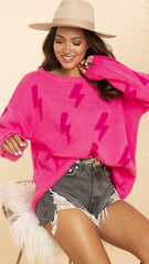 BOOM SWEATER - HOT PINK
