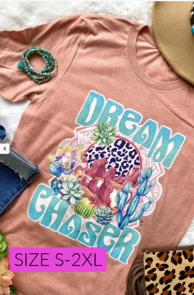 DREAM CHASER TEE SUNSET - MISSES & PLUS