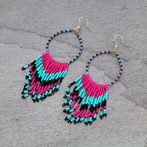 LAST TRIBE EARRINGS - PINK