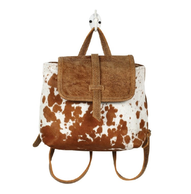 LEATHER FLAP BACKPACK BAG