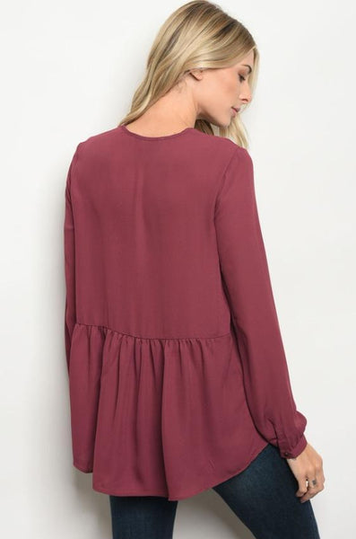 PENELOPE PLUM TOP