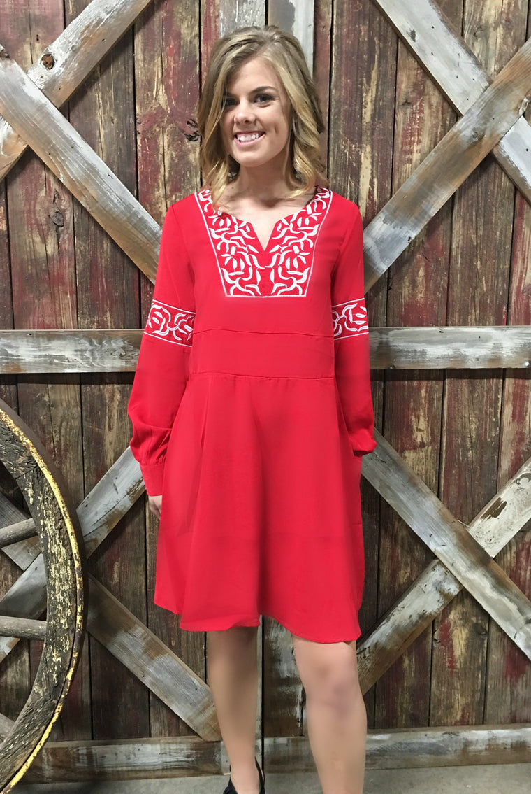 RANCHO ROJA DRESS