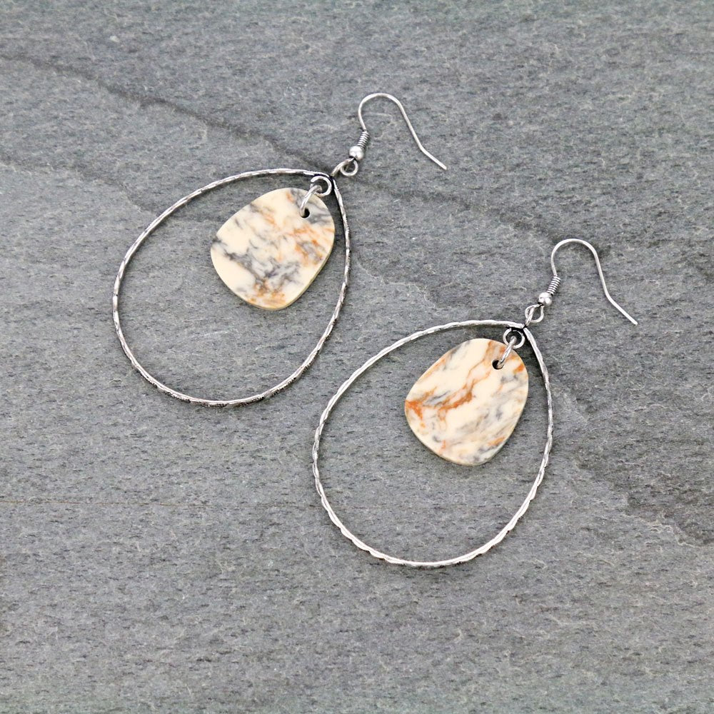 TRAIL DUSTER EARRINGS - WHITE