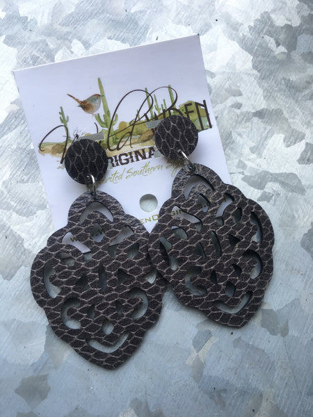 HIGH CITY EARRINGS - GRAY