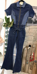 SHADES OF BLUE DENIM JUMPSUIT