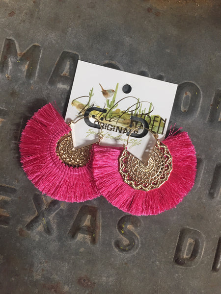 Hawaiian Earrings - Pink