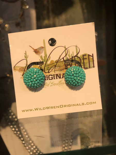 CANDY CRUSH EARRINGS -TURQUOISE