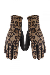 KAT GLOVES - BROWN LEOPARD