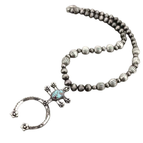 ROSA RANCH NECKLACE - TURQ