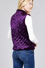 SIDNEY CRUSH VEST - PURPLE