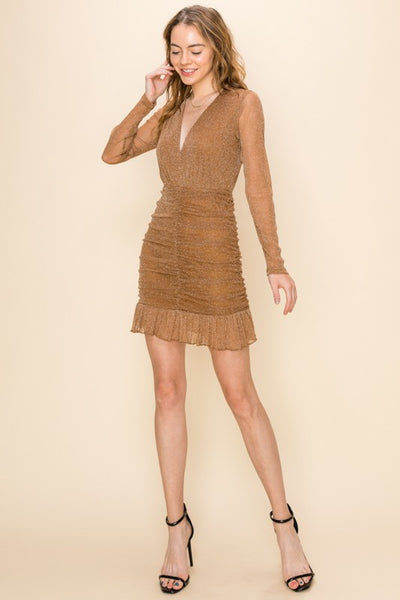 STARLET DRESS - BROWN