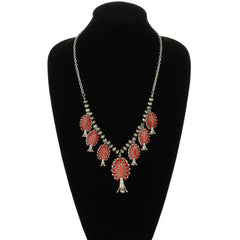 SULPHER SPRINGS SQUASH NECKLACE - RED