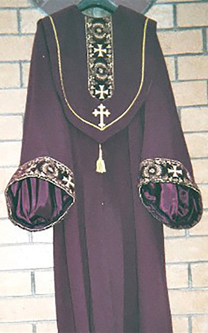 Two-Piece Burgundy Robe for Men
