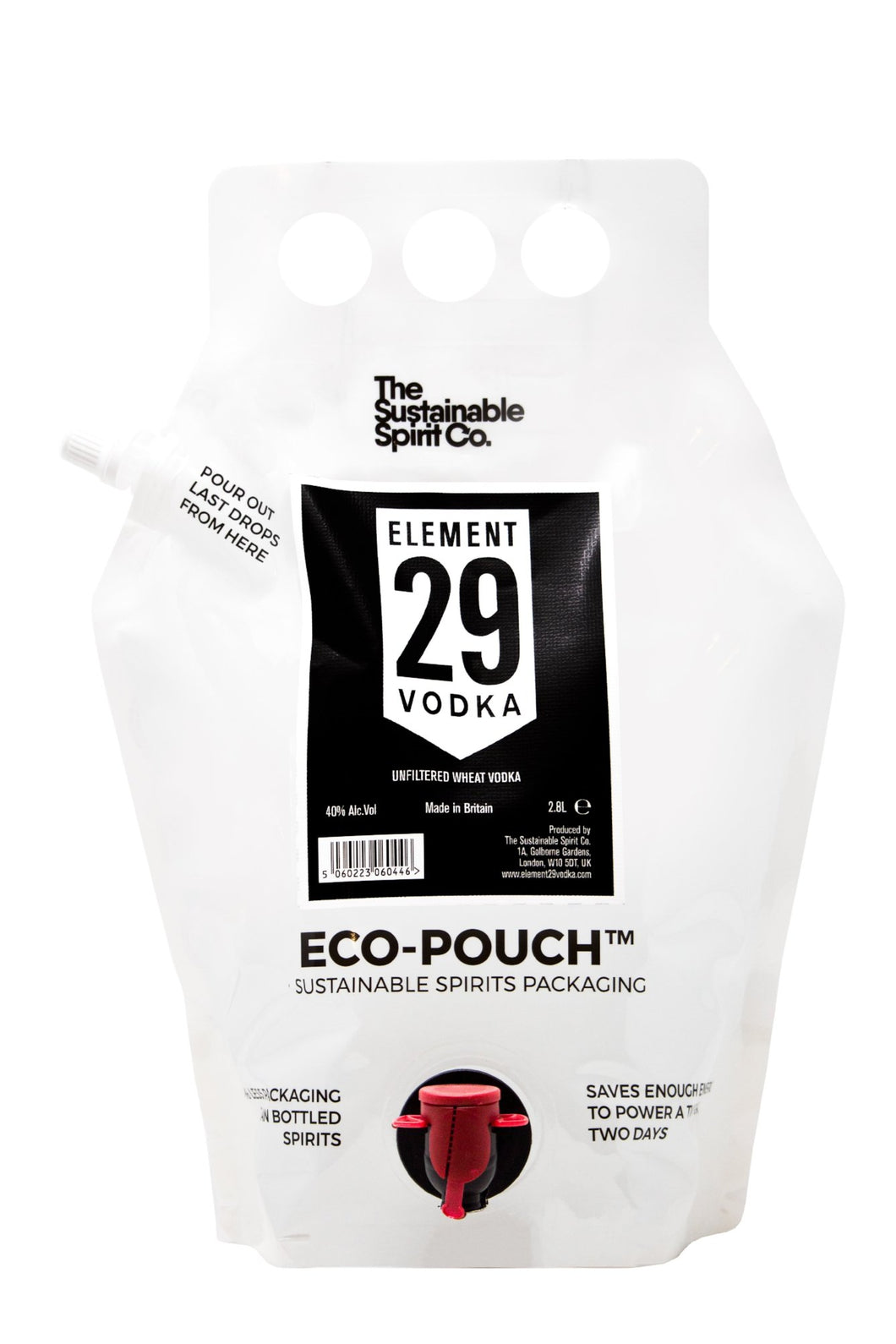 Element 29 Vodka 2.8L Eco-Pouch