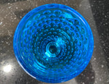 Tiara Blue Glass Hobnail Pattern Blue 8 Ounce Tumbler - Nature Land Candles