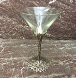 Grey Goose Pewter and Glass Vine and Leaf Cocktail Glass
