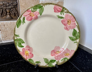 "Franciscan Dinnerware Desert Rose Hand Decorated 10 1/2"" Dinner Plate - Nature Land Candles"