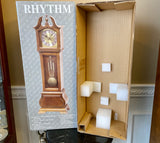 "Rhythm Brown CRH183UR06 19"" Clock with Westminster Chimes and Original Box - Nature Land Candles"