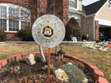 Vintage Repurposed Glass, Ceramic and Porcelain Flower Yard Art