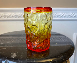 "Bryce El Rancho Flame Amberina Glass 4"" Tall Tumbler - Nature Land Candles"