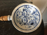 Antique Blue Onion Blue and White Pattern Porcelain Ladle Skimmer Strainer