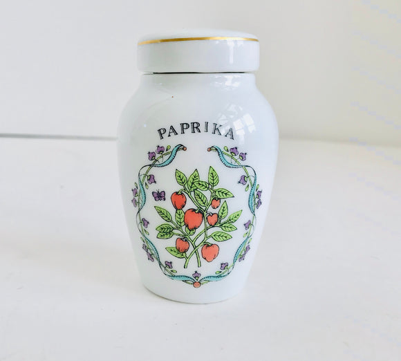 Franklin Mint Gloria Vanderbilt Concepts Porcelain Paprika Spice Jar - Nature Land Candles