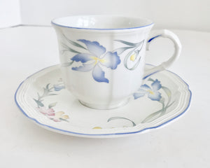 Villeroy and Boch Riviera Vitro Porcelain Teacup & Saucer - Nature Land Candles