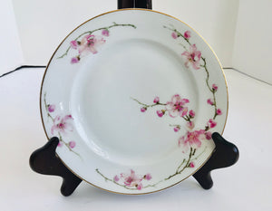 "Vintage Fraureuth Pink Flower Blossoms 8"" Salad Plate - Nature Land Candles"