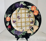 "Certified International Patricia Brubaker Hand Painted 16"" Fruit Platter - Nature Land Candles"