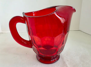 Viking Georgian Ruby Red 44 Oz Pitcher - Nature Land Candles