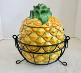 Temp-Tations Presentable Ovenware Fresh Crop Pineapple Baking Dish with Wire Rack