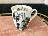 Jasmine Scented Soy Wax Aroma Therapy Candle in White Coffee Mug with Puppy - Nature Land Candles