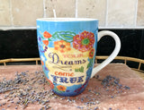 "Candle Lavender Scented Soy Candle in a ""Dreams Come True"" Mug - Nature Land Candles"