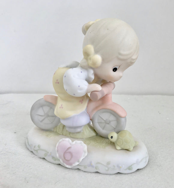 Enesco Precious Moments 1994 Growing in Grace Year 6 Porcelain Figurine - Nature Land Candles
